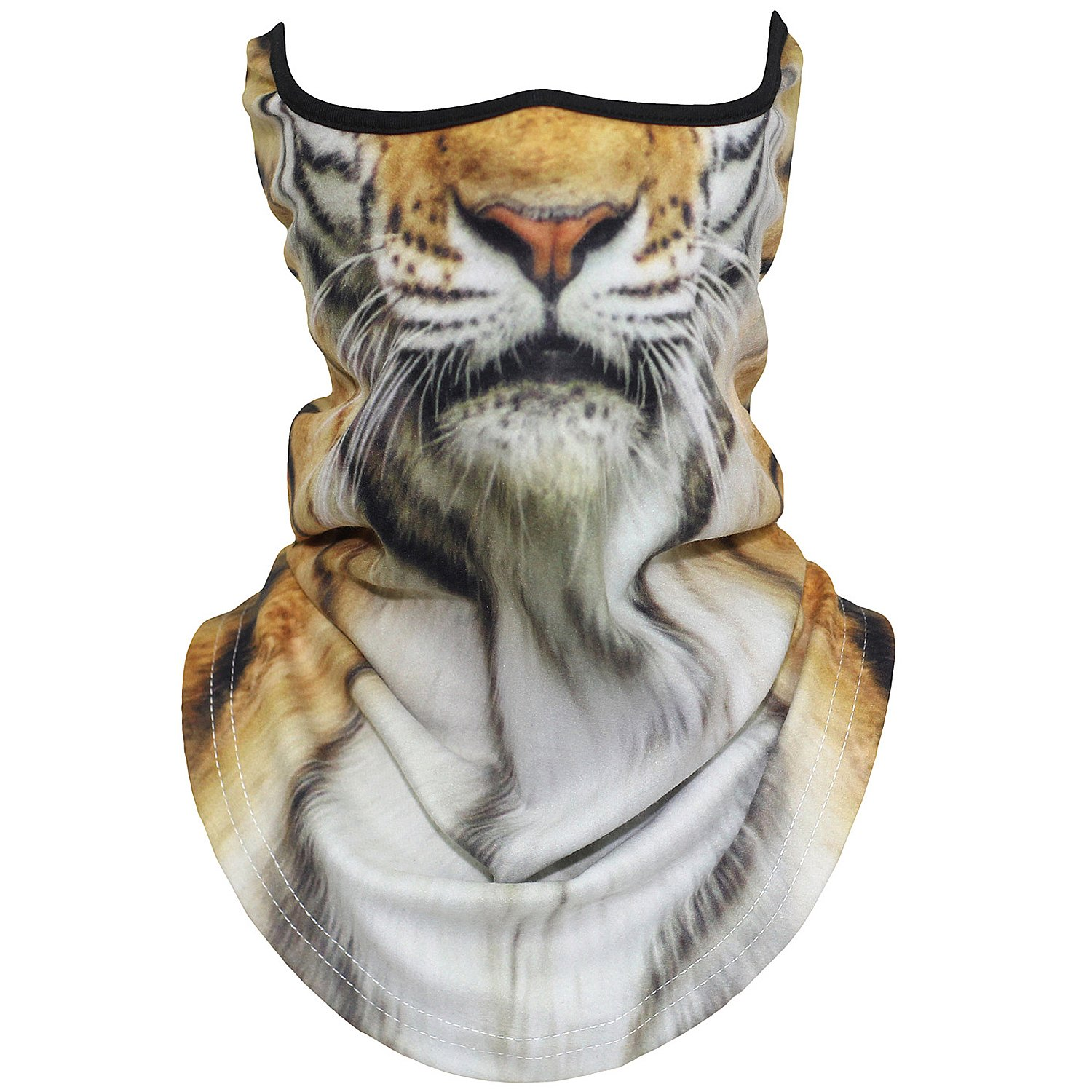 AXBXCX Animal 3D Prints Neck Gaiter Warmer Half Face Mask Scarf Windproof Dust UV Sun Protection for Skiing Snowboarding Snowmobile Halloween Cosplay Tiger