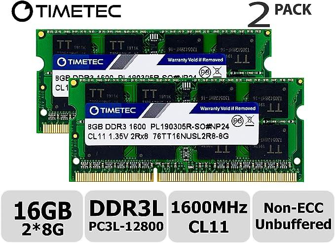 Timetec Hynix IC 16GB Kit (2x8GB) DDR3L 1600MHz PC3-12800 ...
