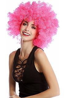 WIG ME UP ® - Peluca afro rosa Funk Disco años 70 años 80 Foxy Brown