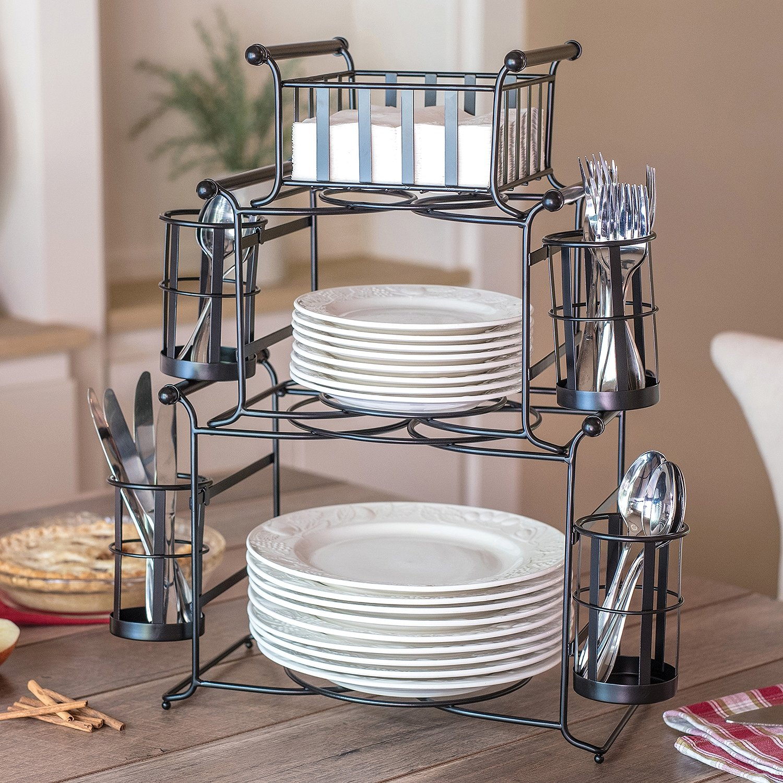 7-Piece Stackable Stripe Buffet Caddy