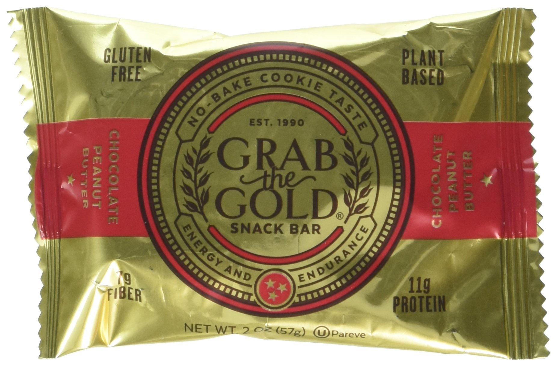 Grab The Gold Gluten Free Snack Bar, Chocolate Peanut Butter, 12 Count