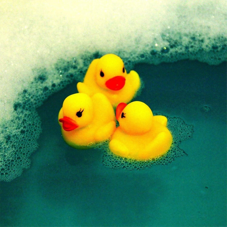 Codall Mini Yellow Rubber Bath Ducks for Child 20pcs