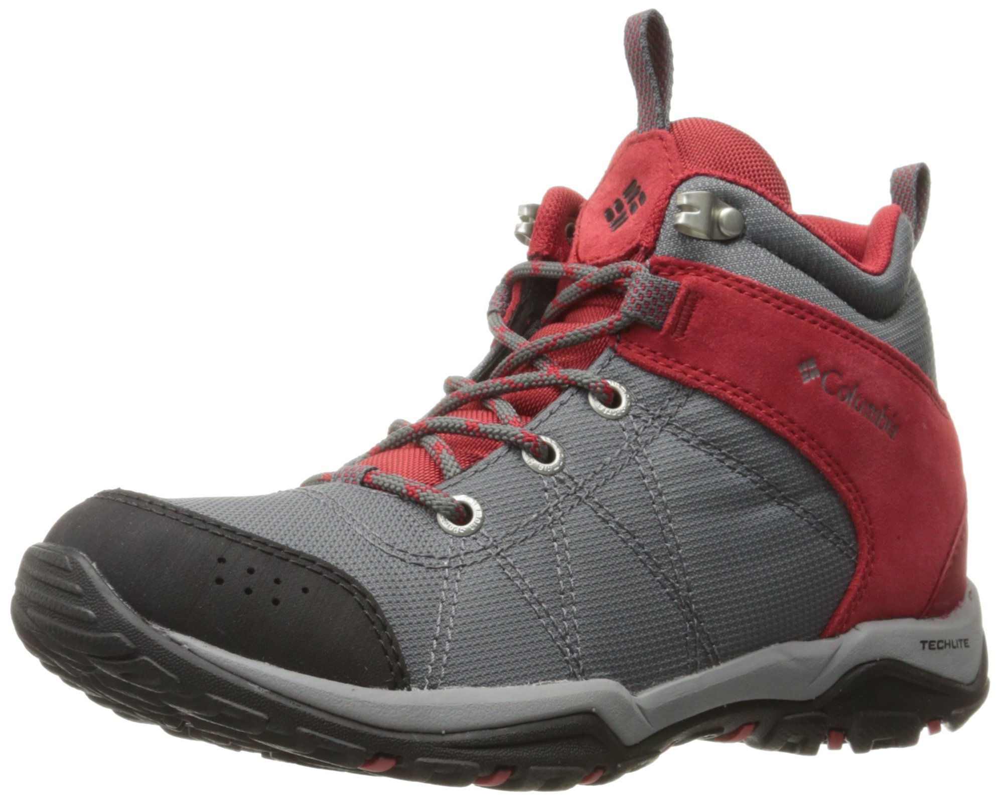 Columbia Women's Fire Venture Mid Textile Hiking Boot, Tin Grey Steel/Rocket, 8 B US