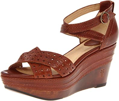 685514da466 Frye Carlie Perf Womens Brown Wedge Sandals Shoes Size  Amazon.co.uk  Shoes    Bags