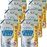 【ケース販売 大容量】ソフラン プレミアム消臭プラス 柔軟剤 ホワイトハーブアロマの香り 詰め替え 1440ml×6個