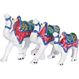 Jaipuri Haat Handicrafted set of 3 showpiece Camel for decoration and Gift purpose (10X10Cm ,9X 9Cm ,8X8 Cm)