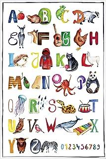 Poster Abc Kinder Alphabet Buchstaben Kinderzimmer Dekoration