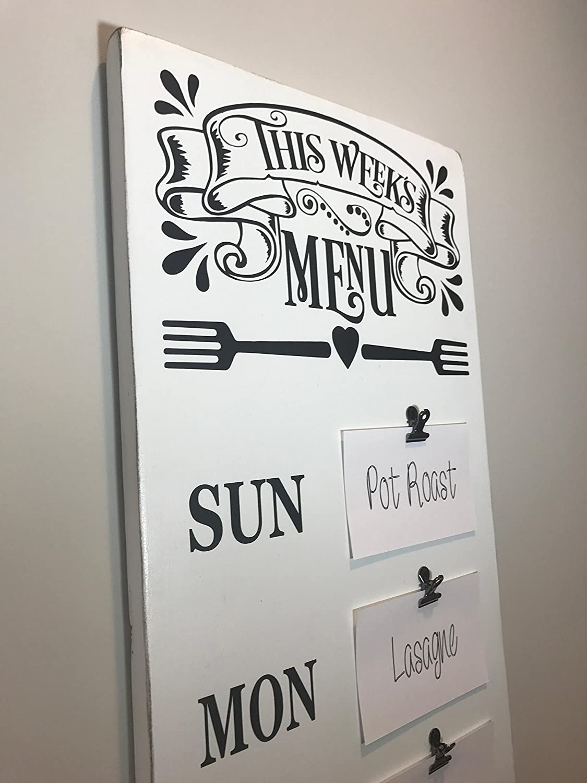 Amazon.com: Menu Board, Meal Planning Sign, Farmhouse Decor ...