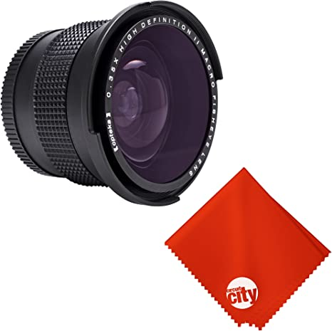 0.21x-0.22x High Grade Fish-Eye Lens Nwv Direct Micro Fiber Cleaning Cloth for Canon VIXIA HF S100