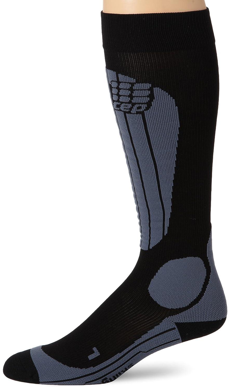 CEP Herren Kompressionsstrumpf compression skiing socks schwarz/grau V Wade 45-50 cm WP50524 WP50523
