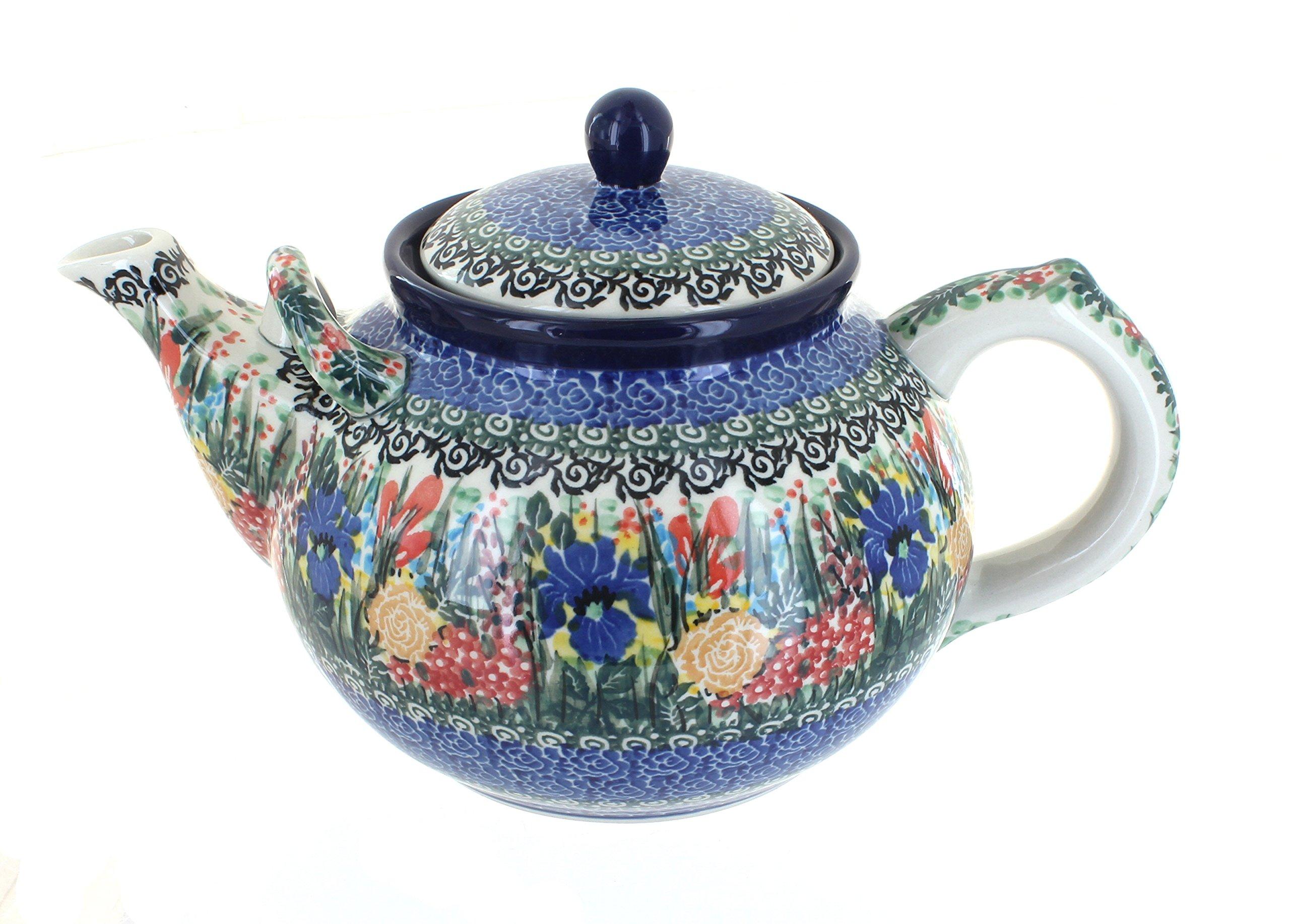 Polish Pottery Summer Blooms Large Teapot