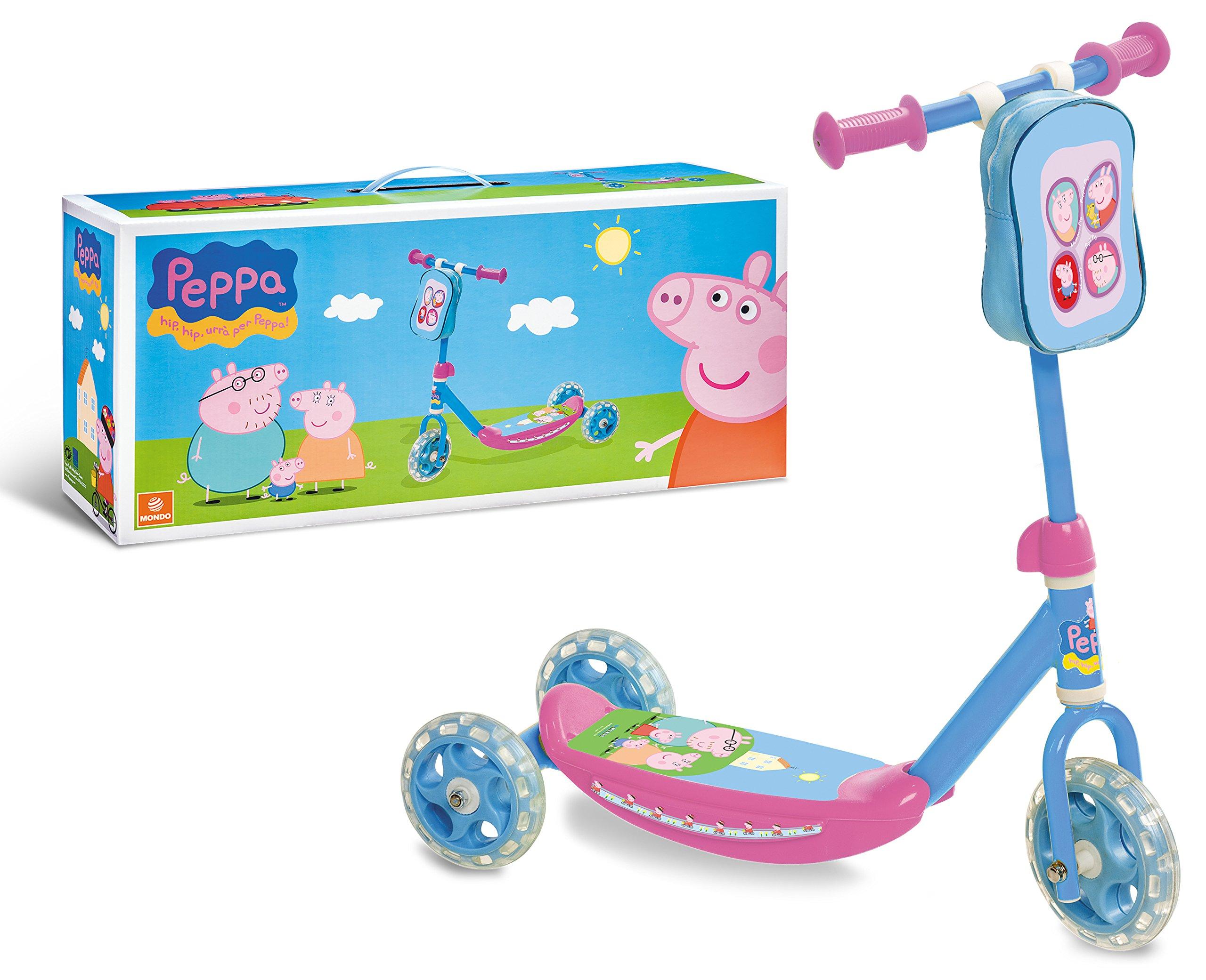 Peppa Pig - Patinete 3 Ruedas (Mondo 28181): Amazon.es ...