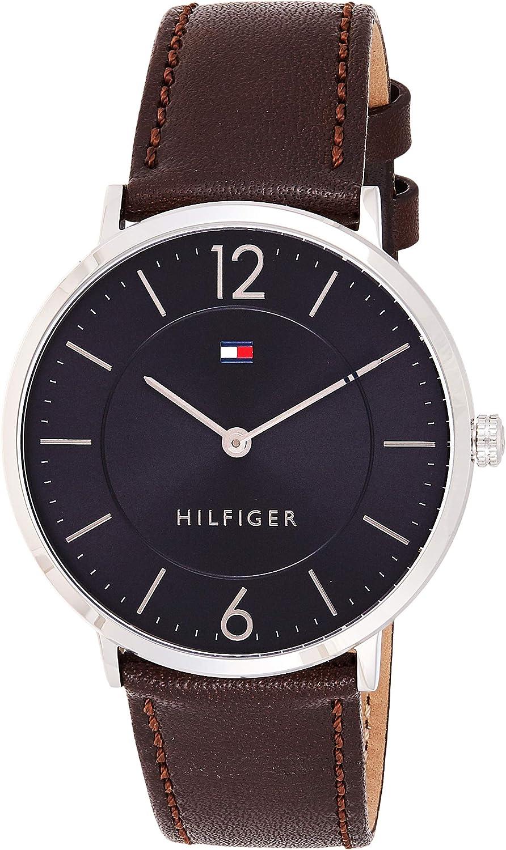 Reloj analógico para hombre Tommy Hilfiger 1710352, mecanismo de cuarzo, diseño clásico, correa de piel.