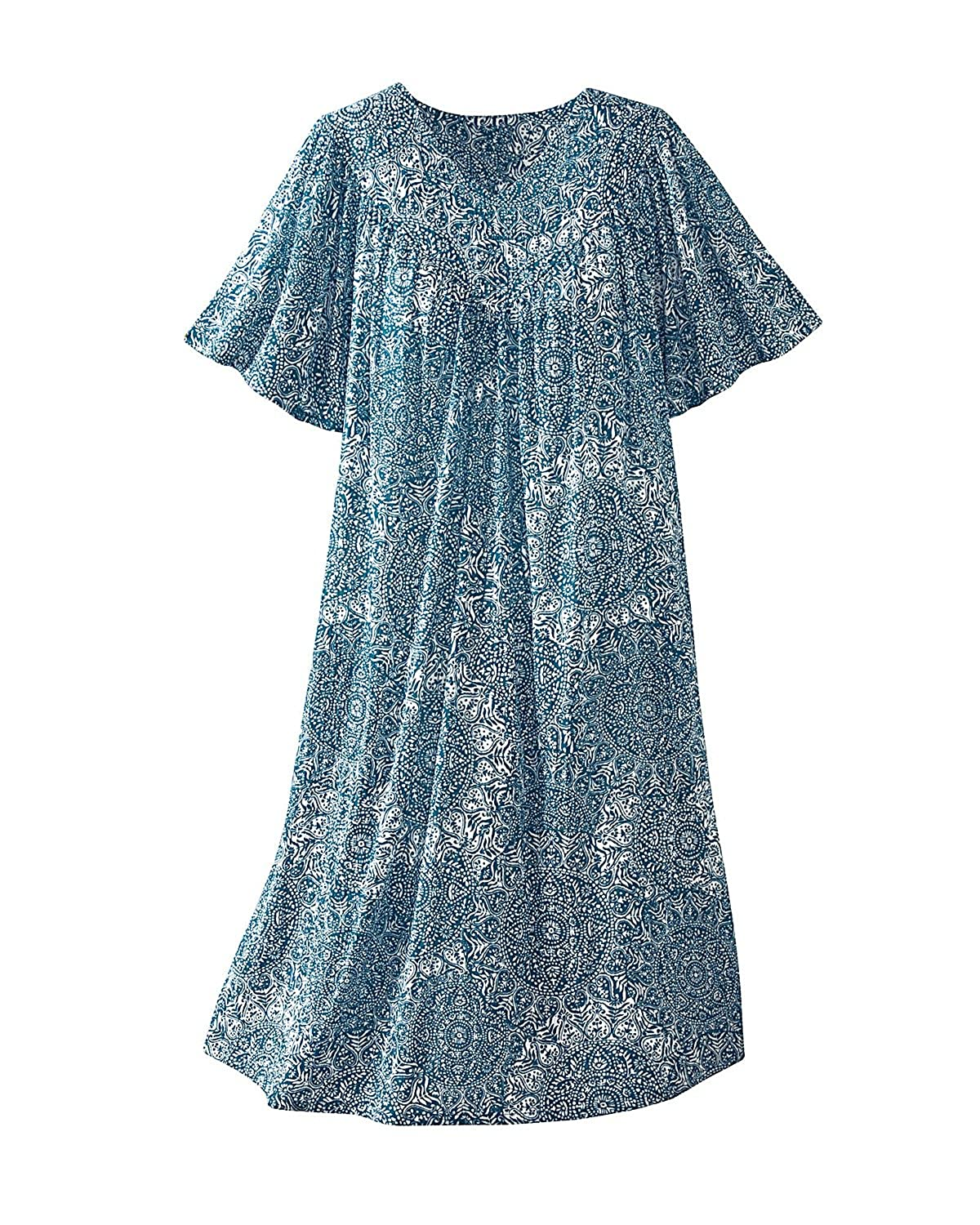 National Mosaic Print Crinkle Dress