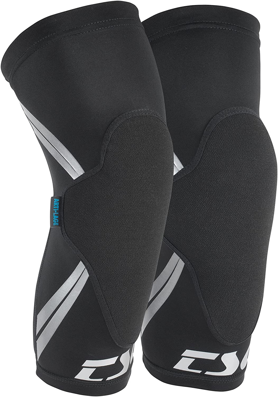 TSG 膝スリーブ真皮自転車用パッド 黒 L-XL