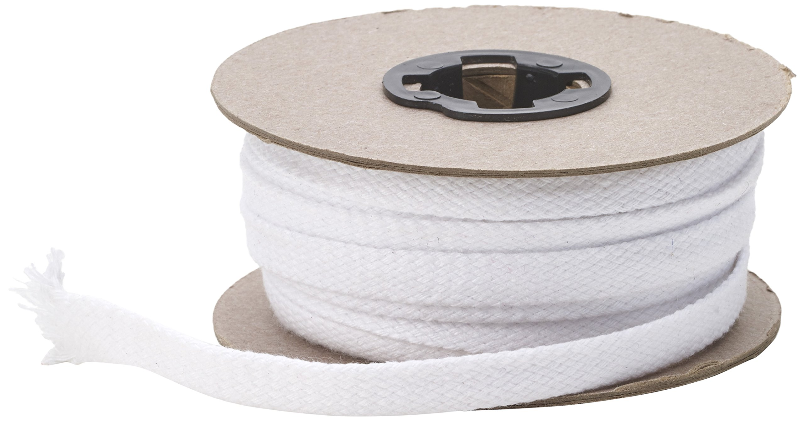 Pearl Flat Draw Cord, 1/2'' Wide, 15 yd, White by Pearl