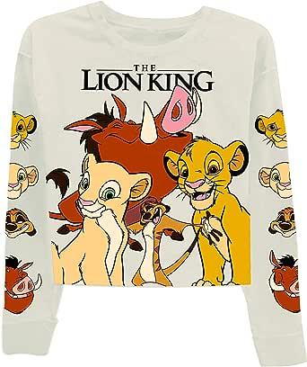 Disney Ladies Lion King Fashion Sweatshirt - Ladies Classic Hakuna Matata Clothing Lion King Crop Hoody