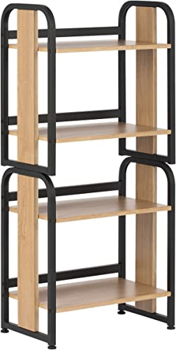 Calico Designs Modern Ashwood Stackable Bookshelf, Graphite Ashwood