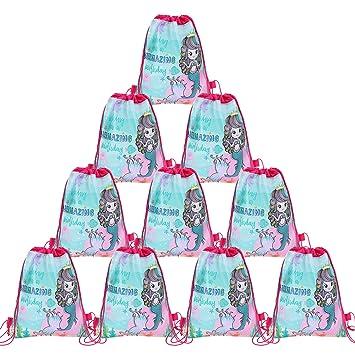 Paquete de 12 Bolsos de fiesta de sirena, Mochilas con ...