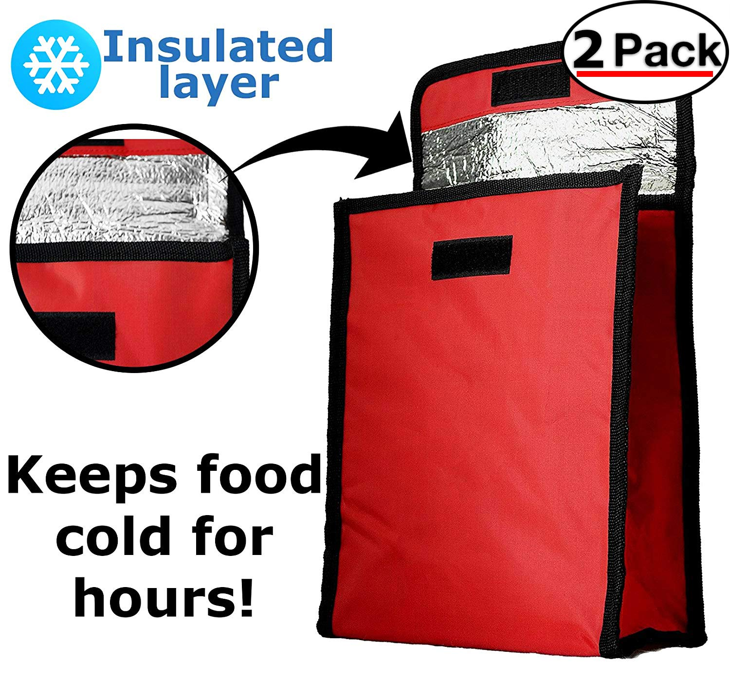 d7e0ff5d92bd Insulated Lunch Tote Bag - Roll Top Lunchbox Fits in a Backpack ...