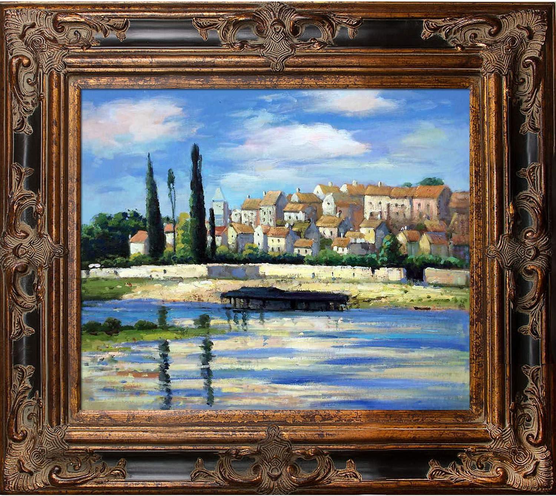 overstockArt Claude Monet Painting with Veine D//Bronze Scoop Rich Brown Finish