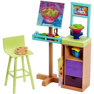 Barbie Art Studio Playset: Toys & Games