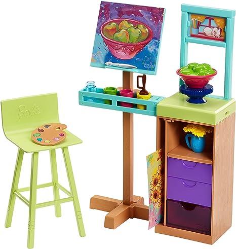 et de pour Métiers Studio peinture Barbie pupitretableauétagèreaccessoires de chaise poupée hautejouet enfantFJB26 Artistique avec zSMqUVp