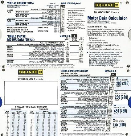 Schneider electric wire size calculator wire center motor data slide chart amazon com rh amazon com aluminum wire size calculator electrical wire size distance chart keyboard keysfo Image collections