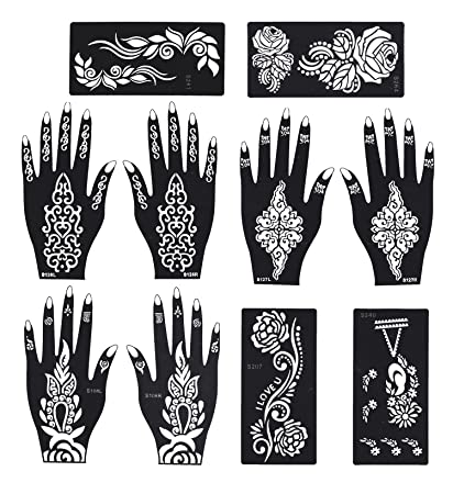 Amazon Com Stencils For Henna Tattoos Self Adhesive Beautiful Body
