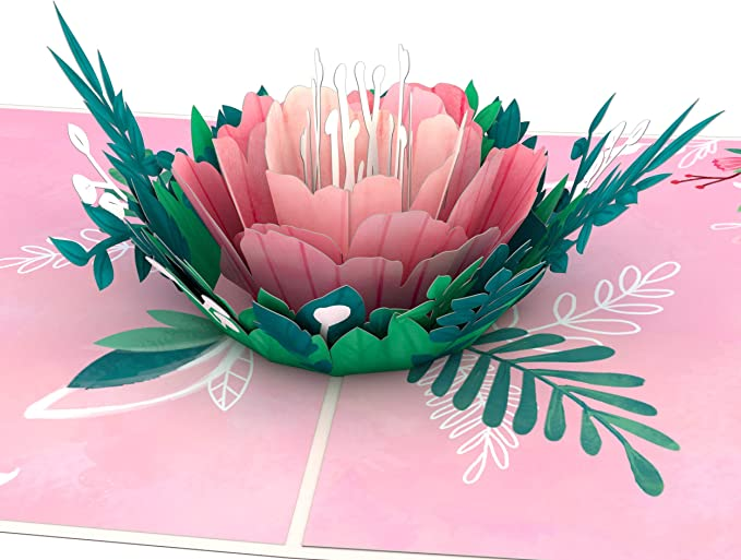 Dreamen Valentines Day 3D Rose Tree Pop-up Cards Perfect For Wife or Firlfriend Birthday,Anniversary Day,Mothers Day,Wedding Invitation Card,Couples Happy Anniversary Rose tree