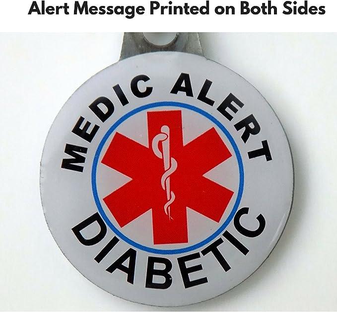 Amazon.com: Medical Alert for diabetes- metal etiquetas ...