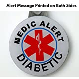 Medical Alert Tags for Diabetes- Metal Tags