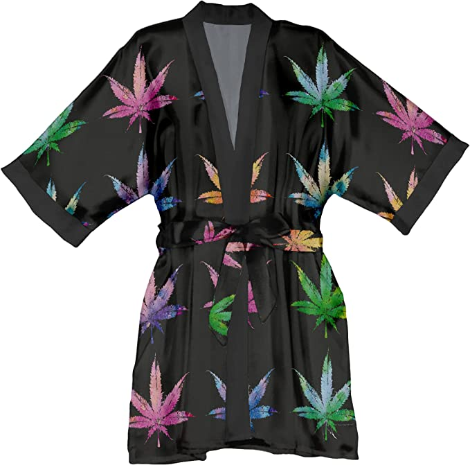 Lume.ly Kimono Robe - Women's Marijuana Fashion