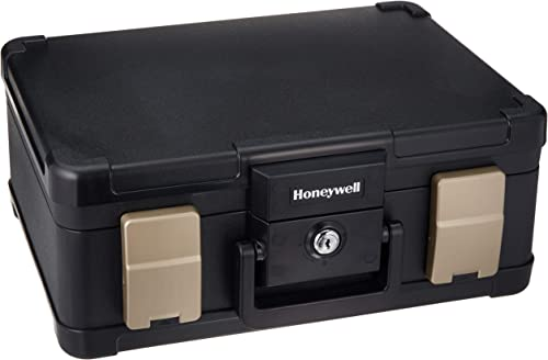 Honeywell Safes Door Locks – 30 Minute Fire Safe Waterproof Safe Box Chest with Carry Handle, Medium, 1103