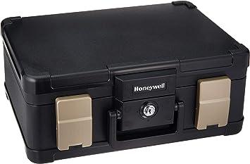 Honeywell Safes & Door Locks - 30 Minute Fire Safe Waterproof Safe Box Chest with Carry Handle, Medium, 1103