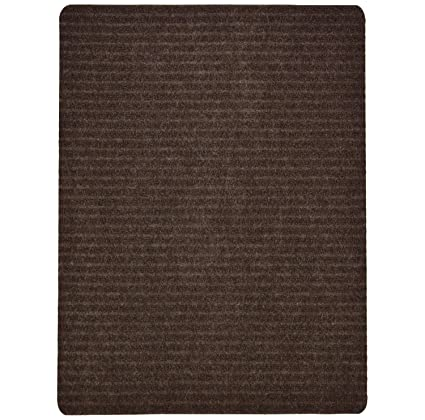 Stair Treads Collection Indoor Skid Slip Resistant Carpet Stair Tread Mat  (Brown, Matching Mat