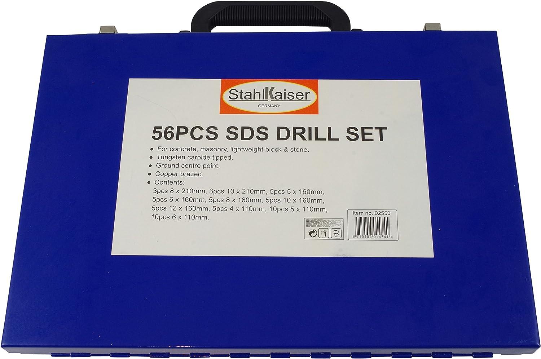 De carburo de SDS-plus de hormig/ón de juego de brocas 56 tlg de brocas para piedra 4-12 mm juego de broca
