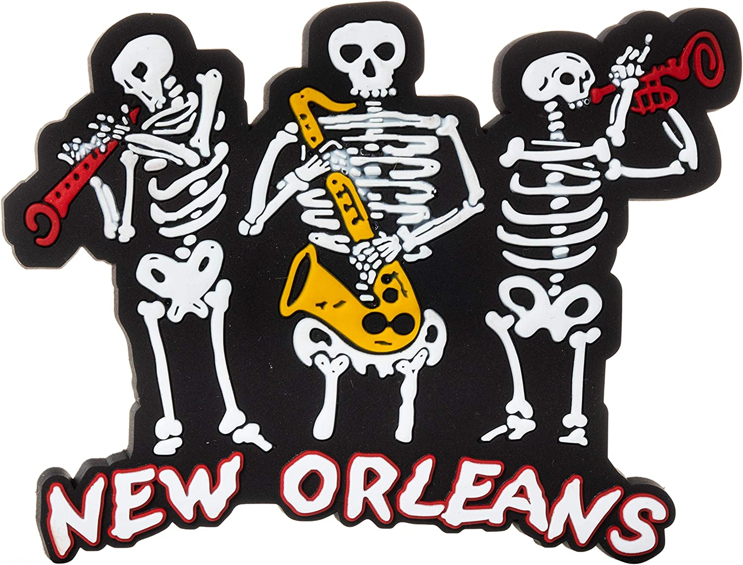 New Orleans Skeleton Jazz Band Souvenir Refrigerator Magnet