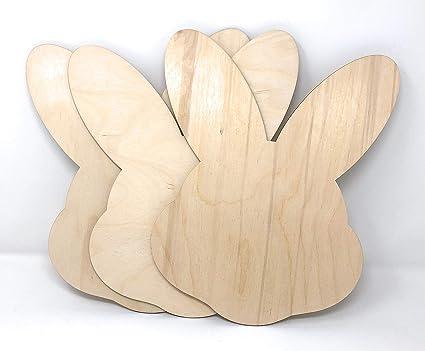 Gocutouts 12 Wooden Easter Bunny Face Cutouts Shapes Wooden Easter Cutouts 12 Package Of 3 Bunny Face
