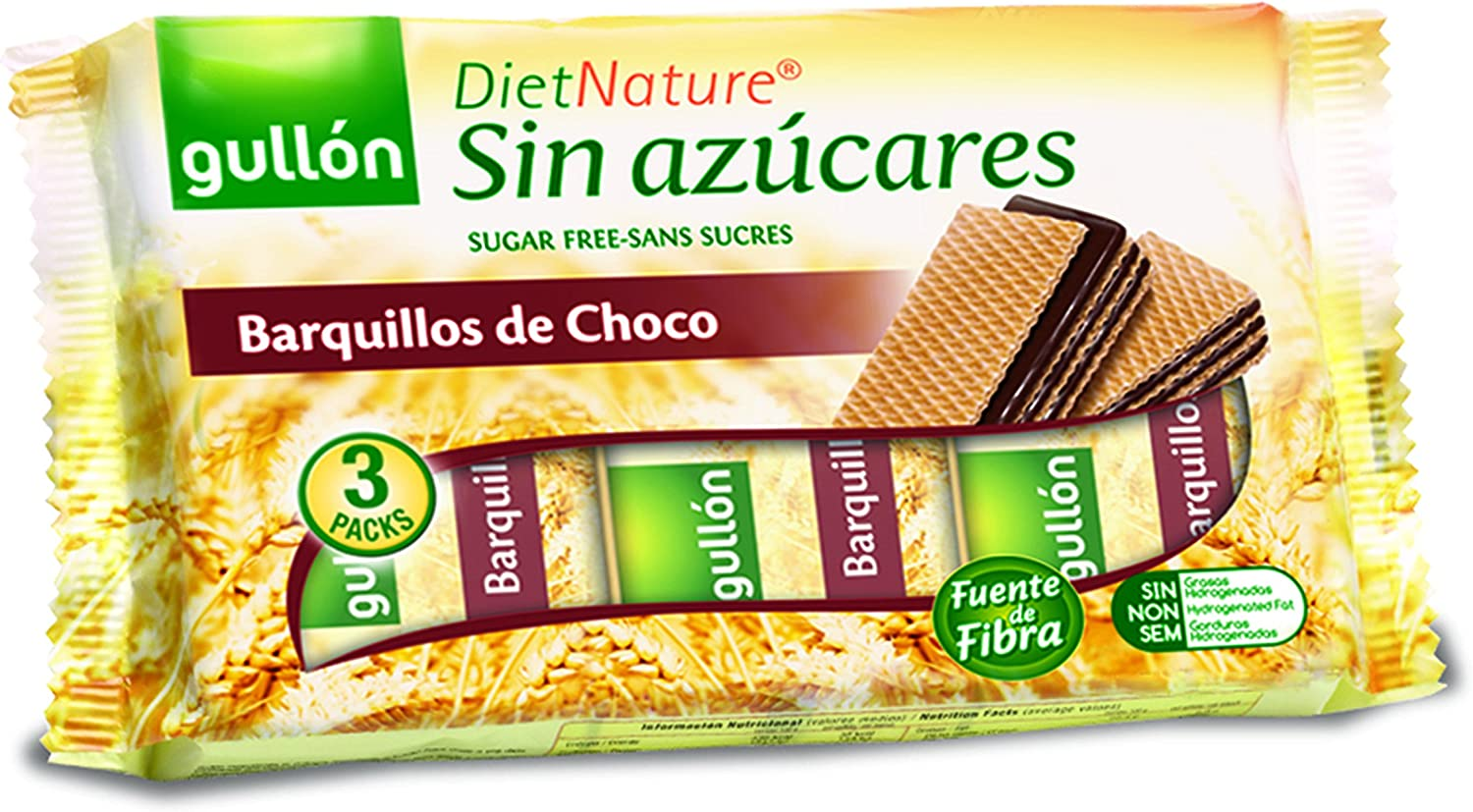 Diet Nature - Barquillos Choco - 210 g - , Pack de 6: Amazon.es: Alimentación y bebidas