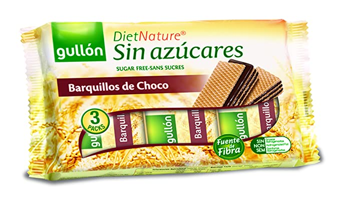Diet Nature - Barquillos Choco - 210 g - , Pack de 6