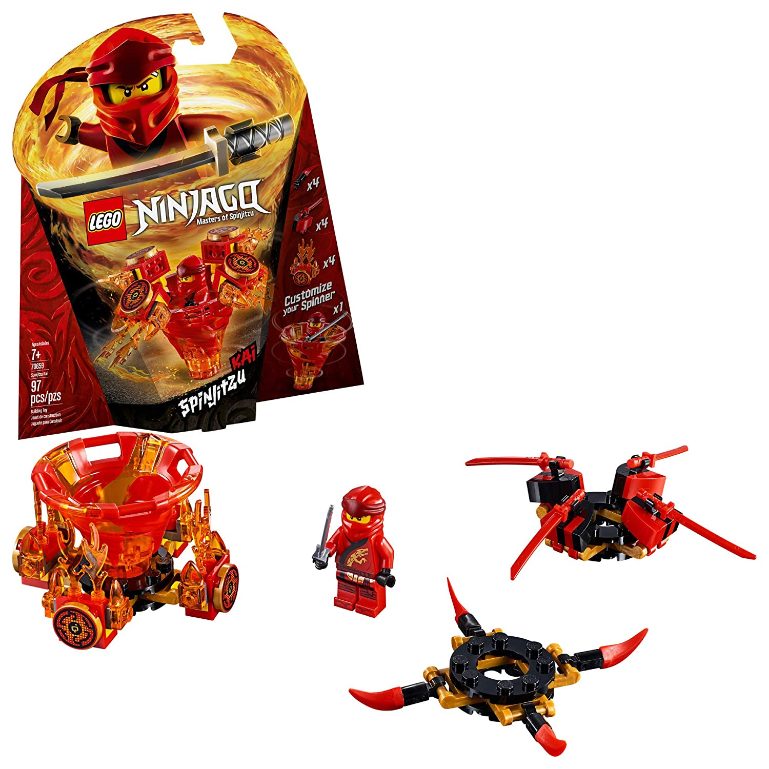 LEGO NINJAGO Spinjitzu Kai 70659 Building Kit, 2019 (97 Pieces)