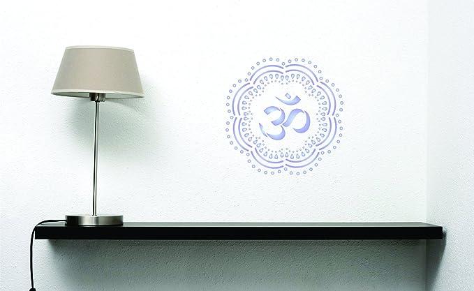 indien Mandala Pochoir S 16.5 x 16.5cm r/éutilisable asiatique AUM Mantra Sanskrit hindou spirituel murale