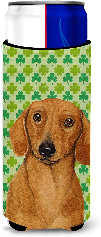 Caroline's Treasures LH9177MUK Dachshund St. Patrick's Day Shamrock Portrait Ultra Beverage Insulators for slim cans, Slim Can, multicolor