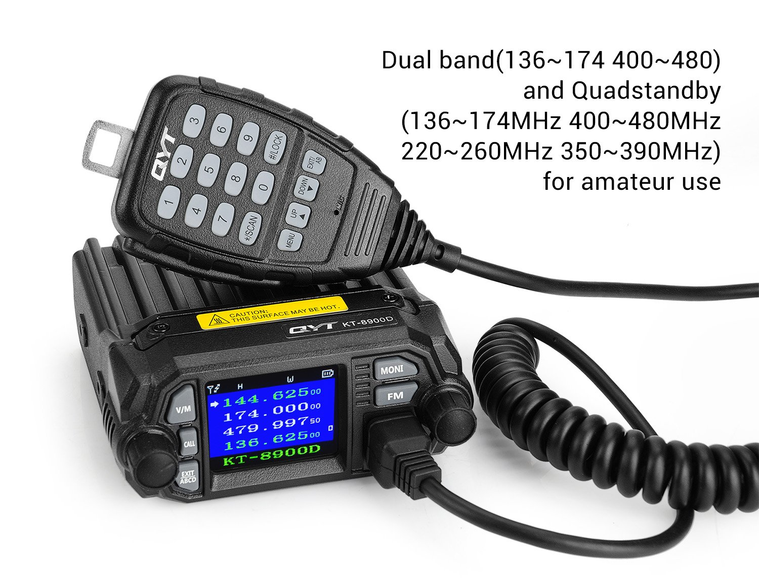 Qyt Kt 8900d 25w Dual Band Mini Mobile Transceiver Two Build Basic Radio Frequency Electronic Circuits Gregs Way Radios136174 400480mhz Quadstandby Amateur Car With Extra Speaker Lightwish Electronics