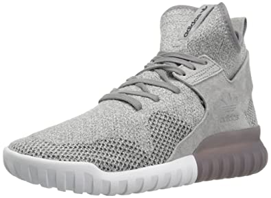 adidas Originals Men's Tubular X PK Fashion Sneaker, Grey/Utility Black  Crystal White S