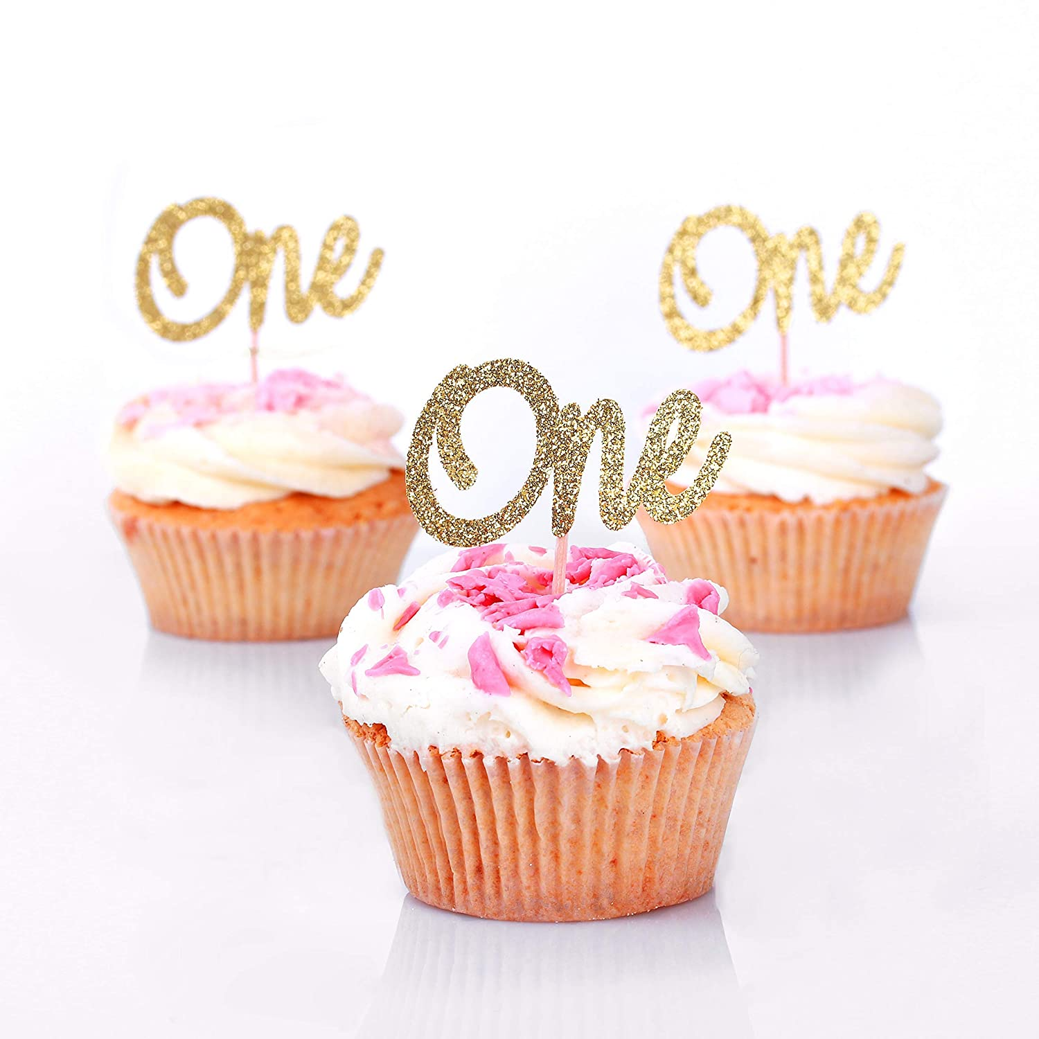 Outstanding Amazon Com First Birthday Cupcake Toppers One Birthday Picks Personalised Birthday Cards Cominlily Jamesorg