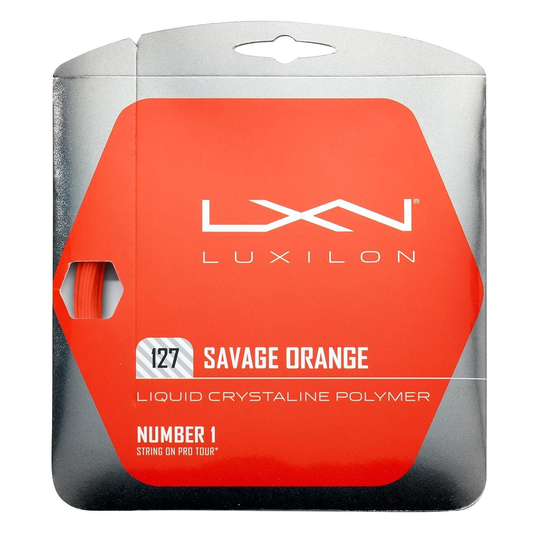 Unisex Arancione 12.2 m Luxilon WRZ994510 Corda da Tennis Savage Orange 127 1.27 mm