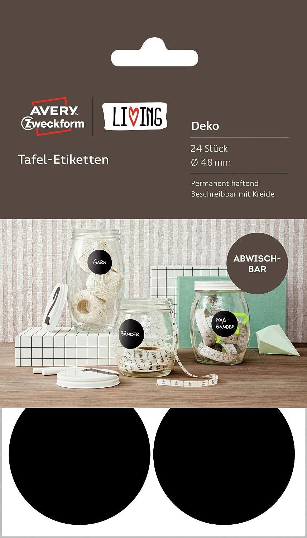 Avery Zweckform 62017 Living - Etichette effetto lavagna Rettangolare nero Avery Tico Srl 62018