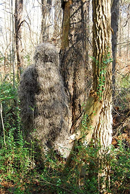 Woodland Ghillie Suit Camouflage Sniper Airsoft Archery Hunting Clothing Jacket